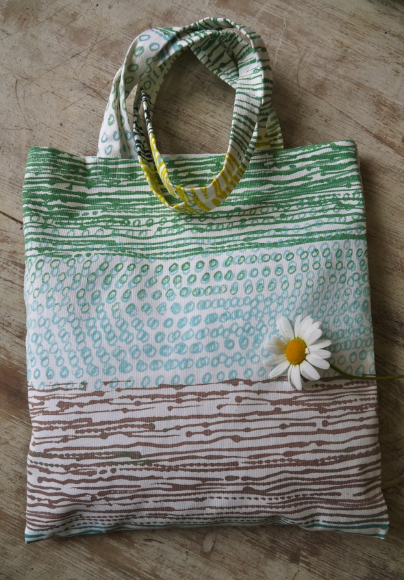 Close up of ombre bag